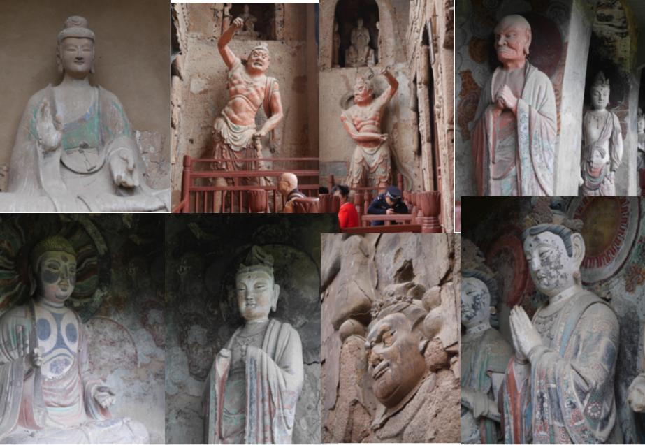 中国河西回廊石窟寺院を訪ねて C 麦積山 仏像