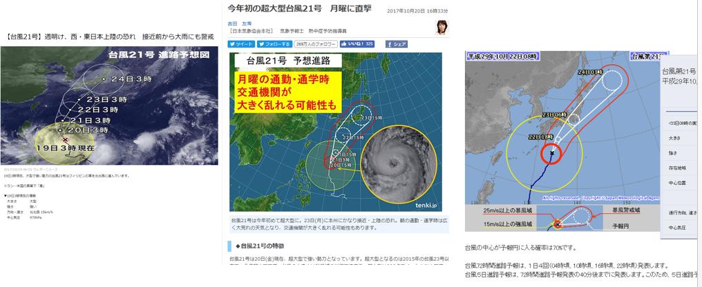 201710台風21号進路