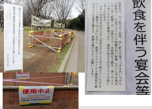 202003代々木公園 桜花見は自粛へ