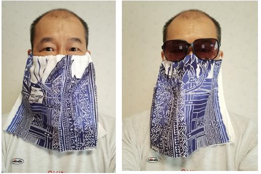 京都手拭い面マスク